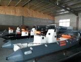 Bateau gonflable rigide de bateau de côte de fibre de verre de Liya 2.4-5.2m