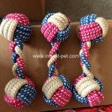 juguete del Chew del perro de la cuerda del algodón de la pesa de gimnasia del 18cm