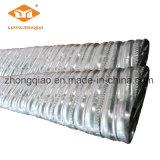 Tubo ondulato del metallo della lastra della costruzione
