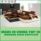 Mobília Home de couro de madeira italiana do sofá