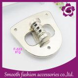 La personalización de la bolsa de aleación de metales de moda bolso de girar el bloqueo de hardware Accesorios