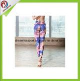 O costume do OEM imprimiu caneleiras das mulheres do desgaste de Fintness para a ioga