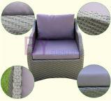 O sofá poli para qualquer tempo do Rattan da venda quente ajustou-se para a entrada