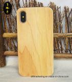 iPhone x를 위한 자연적인 실제적인 나무로 되는 전화 상자
