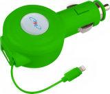iPhoneのための引き込み式電光ケーブルを持つ車の充電器
