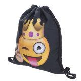 Emoji Sackpack, sac de sport de sac de sac à sac à dos de cordon de Gymsack de formation d'équipe pour la substance d'Emoji d'années de l'adolescence