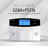 GSM/PSTN sin hilos se doblan sistema de alarma inteligente de la red con la visualización del LCD