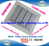 18 Ce/RoHS Yaye/Meanwell/Bridgelux/ 3/5 ans de garantie 60W/90W/120 W/150W Éclairage de la station de gaz à LED