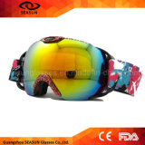 둥근 반대로 안개 렌즈 남자 광학적인 근시 삽입 스키 Snowboarding 고글
