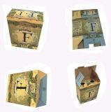 リサイクルされた物質的なボール紙のペーパーワインボックスに3執ように勧めなさい
