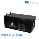 type de gel de 12V 200ah batterie d'accumulateurs rechargeable pour le système d'alimentation solaire