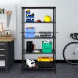 Shelving шкафа хранения гаража металла 5 ярусов NSF черный Coated сверхмощный Perforated