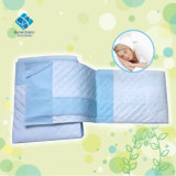 Underpads absorbente disponible para el bebé, pista de la incontinencia