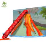 Вулкан захваты Скалолазание, удивительные динозавров разбиения на вулкан внутри трубы слайд для продажи