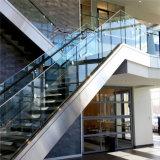 Escalera interior canal U balaustrada barandilla de vidrio aluminio