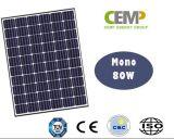 Modulo solare monocristallino flessibile 5W, 10W 20W 40W 80W misura bene per il sistema della famiglia