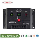 Contrôleur solaire PWM 8AMP de charge de SCG 0808 de Paco
