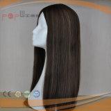 ブラウンカラー人間の毛髪の女性のかつら(PPG-l-0743)