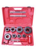 Kit de tuyau de cliquet de l'enfileur ensemble avec 6 à cliquet meurt et étui de rangement Plasstic 3/8''-2''