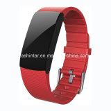 Braccialetto astuto del Wristband del video di frequenza cardiaca di pressione sanguigna del pedometro dell'inseguitore astuto di forma fisica