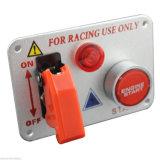 Серебристый гоночных автомобилей панель выключателя зажигания индикатор кнопки запуска двигателя переключения 12V