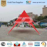10m Guanghzouの販売のための赤い単一の上の屋外貿易星のテント