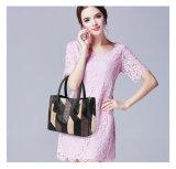 ブランドの方法パッチワークのハンドバッグの女性の高品質PUの革製バッグ(WDL0887)