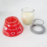 Vela ajustada doce do presente de casamento do coração com abóbada de vidro