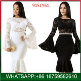 New Design Woman Long Sleeve Sexy Dress Evening party