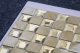 voor Tegel van het Mozaïek van het Aluminium van het Metaal van het Glas van de Decoratie van de Muur de Zilveren