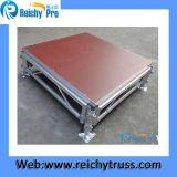 Fáciles de aluminio portables de la venta caliente ensamblan la etapa antirresbaladiza de Warterproof