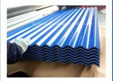 Colorer la plaque en acier enduite du profil PPGI de cadre de tuile de toit en métal pour le toit