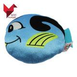 Matériau souple de haute qualité Poisson Bleu un jouet en peluche avec des impressions