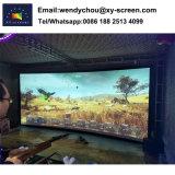 Scherm 4m van de Projectie van het Frame van Xyscreen 3D Gebogen voor Stadium/Bioskoop