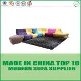 Insieme moderno classico europeo del sofà del tessuto di svago