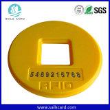 Símbolo redondo de RFID para el solo boleto del metro del viaje