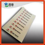 Etiquetas impermeáveis feitas sob encomenda impressas nas folhas