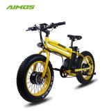 Motor delantero y trasero de 20 pulgadas 4.0 La grasa de la montaña de neumáticos bicicleta eléctrica E-Bike