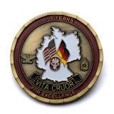 Obras de arte libre de recuerdos personalizada Soft enamel pirata Metal águila de oro Monedas de réplica