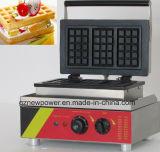 Equipamento de padaria comercial torradeira Waffle Maker fazendo a máquina