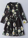 Alineada larga encantadora elegante de la funda de las mujeres florales de la manera