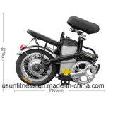 14inchアルミ合金の折るEバイクはとの電池を除去する