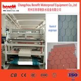 Cadena de producción revestida esmaltada de los azulejos de material para techos del metal de la piedra de la ripia del asfalto de la tabulación de la máquina 5 de la acería