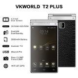 4.2'' Double écran Flip Design 4G Android7.0 de clavier Smart Phone téléphone mobile 4G Téléphone cellulaire
