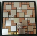 Acero inoxidable de la dimensión de una variable cuadrada colorida y mosaico mezclado de Alu