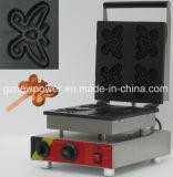 Бабочка Форма принятия решений для приготовления вафель Maker коммерческих новая машина для приготовления вафель