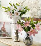 Künstliche Blumen-Qualitäts-einzelner Stamm-Latex-Tiger-Lilien-Großverkauf