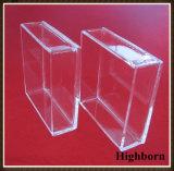 Transparenter kundenspezifischer quadratischer Reinheit-Quarz-Glas-Kultur-Teller