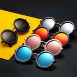 Objectif chaud de Tac de cru de type de mode de forme ronde de lunettes de soleil de vente