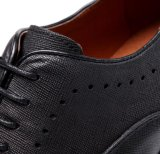 スエードのBrogueの人の服靴のブラウンの革オフィスの靴